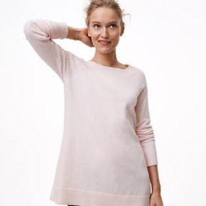 Pale pink long sleeve LOFT sweater